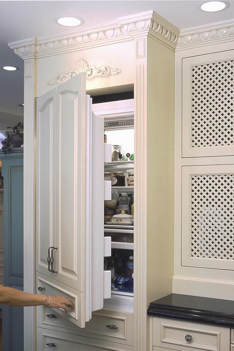 Concealed Sub-Zero refrigerator